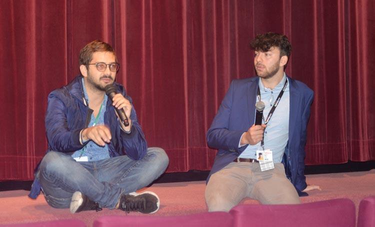 Der erfolgreiche dominikanische Jung-Regisseur José Maria Cabral (links) stellte im Casablanca Kino seinen Film The Projectionist als Europapremiere vor.