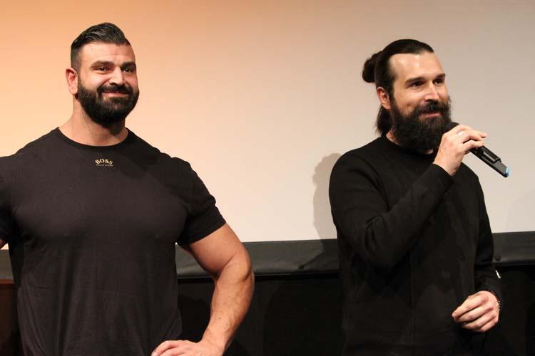 Vittorio Pirbazari und Neven Pilipovic (von links) stellten sich nach der Vorführung den Fragen des Publikums.