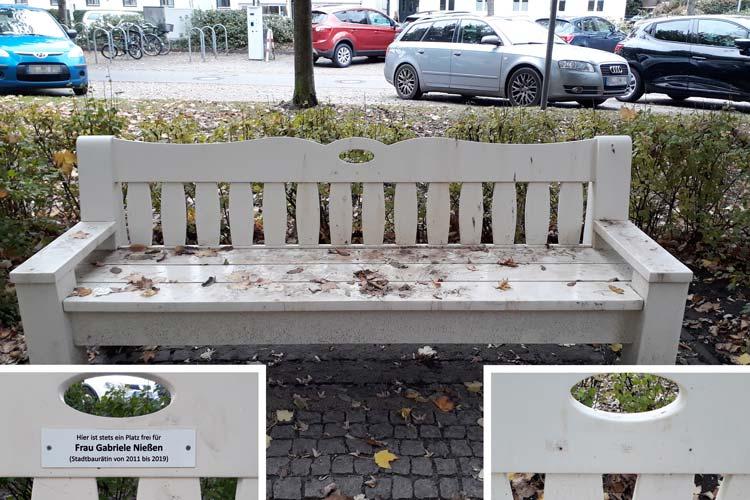 Ex-Stadtbaurätin Gabriele Nießen wirkt längst in Süddeutschland, ihr Geist aber schwebt zumindest durch die Grünanlagen gegenüber dem AGO.