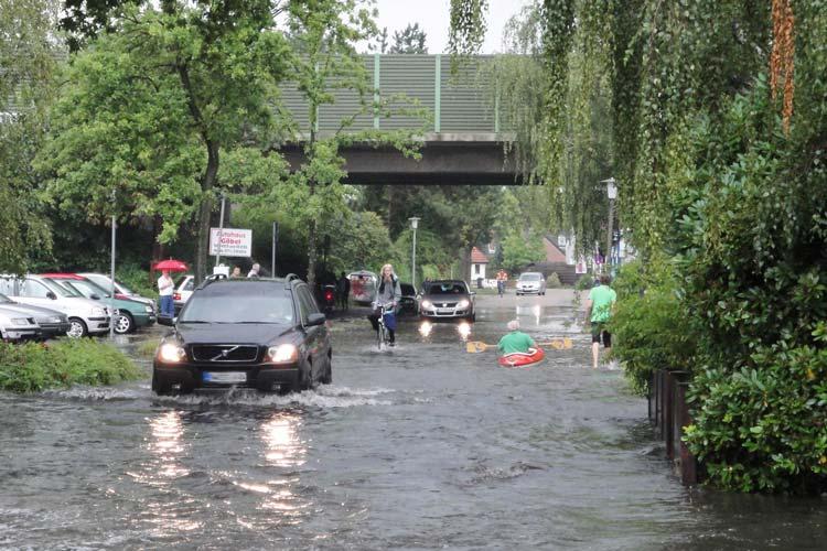 Der Bereich rund um die Alexanderstraße wurde schon mehrfach überflutet.