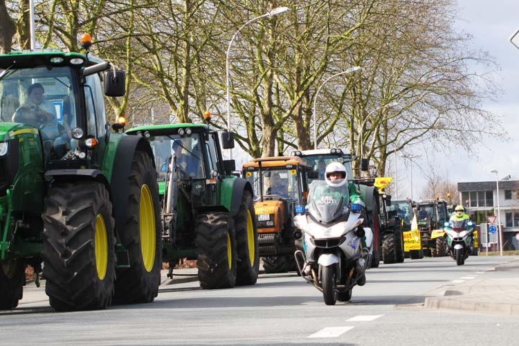In Oldenburg droht wegen einer Demonstration der Landwirte das Verkehrschaos.