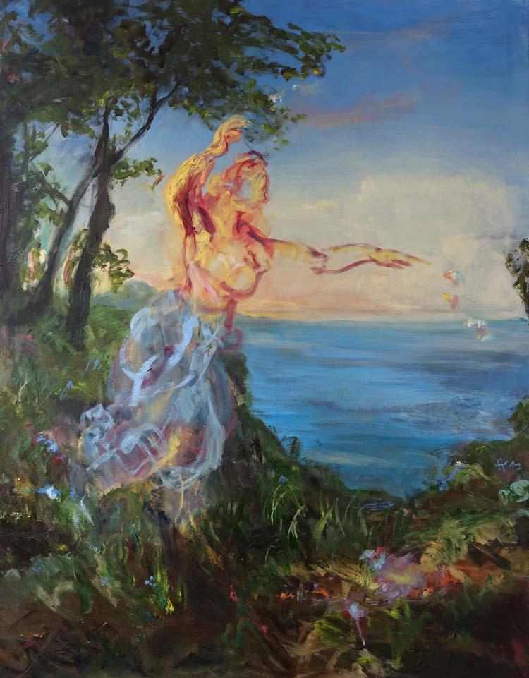 Barock trifft auf zeitgenössisch. Neben Gemälden der Altmeister präsentiert die Ausstellung auch Werke des zeitgenössischen Künstlers Michael Ramsauer.