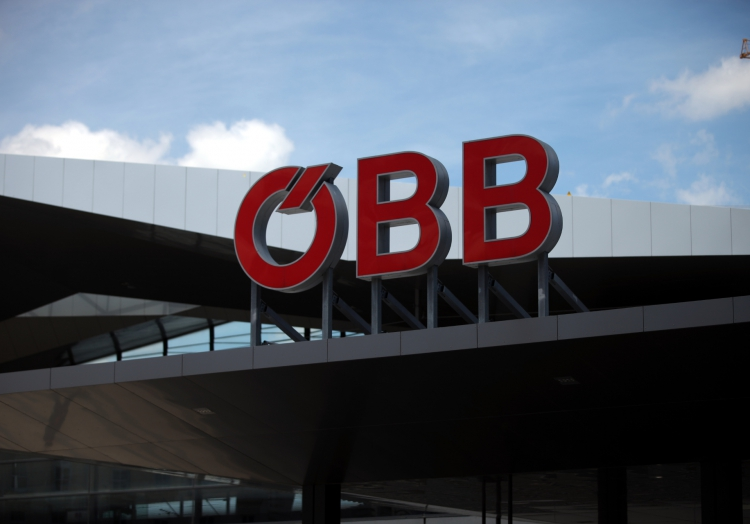 ÖBB-Logo am Wiener Hauptbahnhof, über dts Nachrichtenagentur