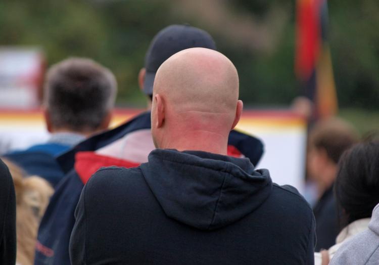 Rechtsradikaler bei Protest in Chemnitz, über dts Nachrichtenagentur