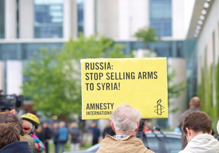 Proteste gegen Russlands Waffenlieferungen an Syrien, über dts Nachrichtenagentur