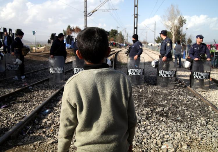 Flüchtlingsjunge in Griechenland, über dts Nachrichtenagentur
