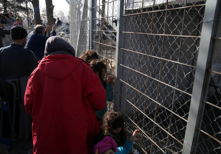 Flüchtlinge an der Grenze Griechenland-Mazedonien, über dts Nachrichtenagentur
