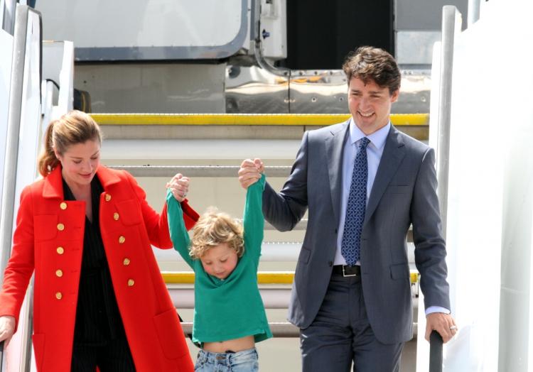 Justin Trudeau mit Ehefrau Sophie Gregoire, über dts Nachrichtenagentur