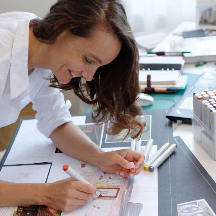 Katharina Semling löst alle Aufgaben mit Kreativität und viel Elan.