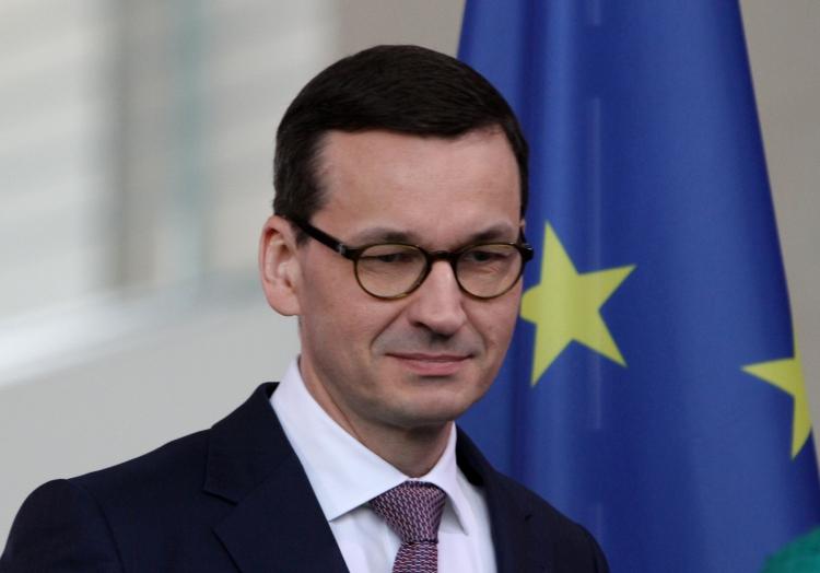 Mateusz Morawiecki vor einer EU-Fahne, über dts Nachrichtenagentur