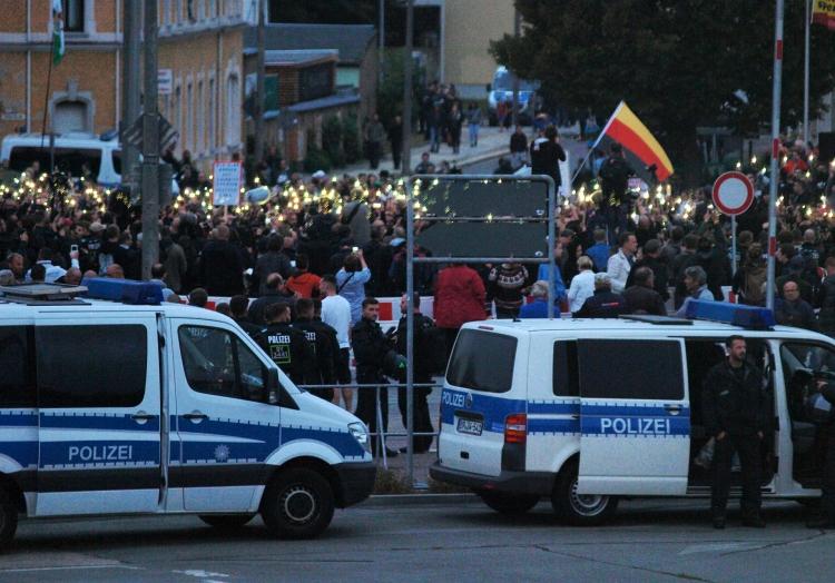 Proteste in Chemnitz am 30.08.2018, über dts Nachrichtenagentur