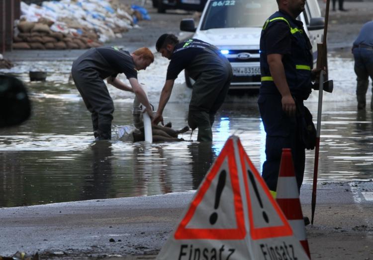 THW-Einsatzkräfte beim Hochwasser, über dts Nachrichtenagentur