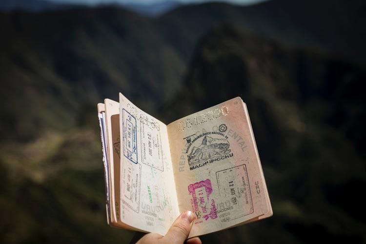 Visum für Neuseeland.