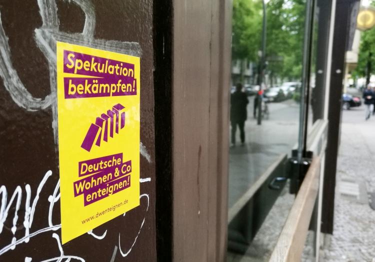 Protest gegen Deutsche Wohnen, über dts Nachrichtenagentur