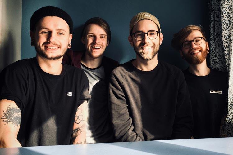 """Die Alternative Band """"Catapults"""" (Foto) aus Oldenburg spielt ihren Poppunk gemeinsam mit """"Loose Lips"""" am 1. August um 19 Uhr."""