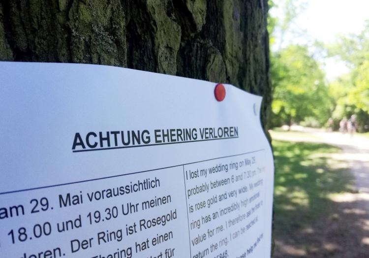 Verlorener Ehering, über dts Nachrichtenagentur