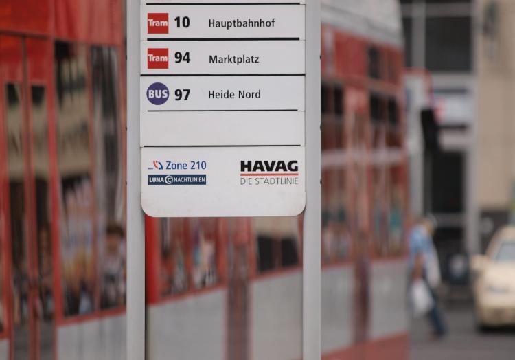 HAVAG-Straßenbahnhaltestelle, über dts Nachrichtenagentur