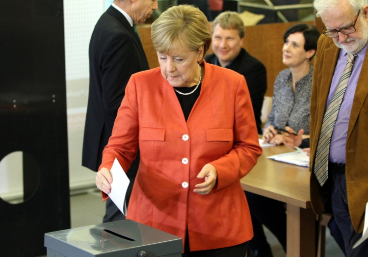 Angela Merkel bei der Stimmabgabe am 24.09.2017, über dts Nachrichtenagentur