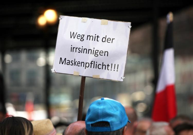 Demo von Corona-Skeptikern am 29.08.2020, über dts Nachrichtenagentur