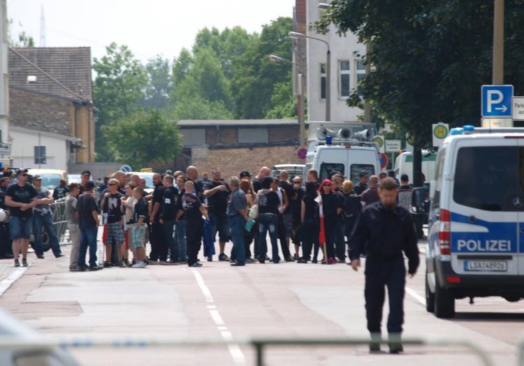 Nazi-Aufmarsch in Halle, über dts Nachrichtenagentur