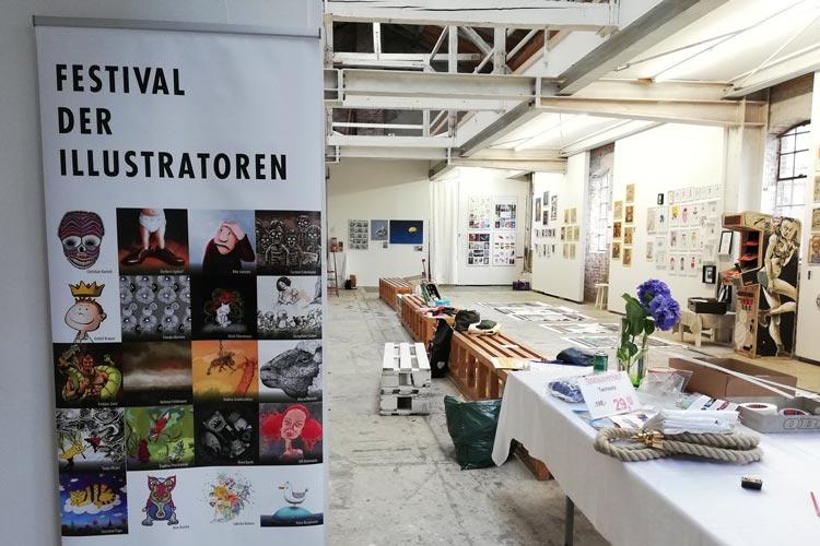 Das Festival der Illustratoren findet in der Kulturhalle am Pferdemarkt statt.