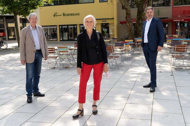 Gemeinsame Sache beim Stadtmarketing machen zukünftig der CMO-Vorsitzende Friedrich-August Fisbeck, die OTM-Geschäftsführerin Silke Fennemann und Oberbürgermeister Jürgen Krogmann.
