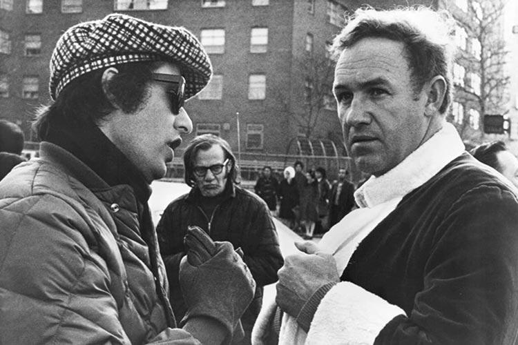"""Der US-Regisseur William Friedkin (links, im Gespräch mit Gene Hackman) bekommt die diesjährige Retrospektive. Filme wie """"The Exorcist"""", """"French Connection"""" und """"Live and let Die in L.A."""" gehören zu seinen Werken."""