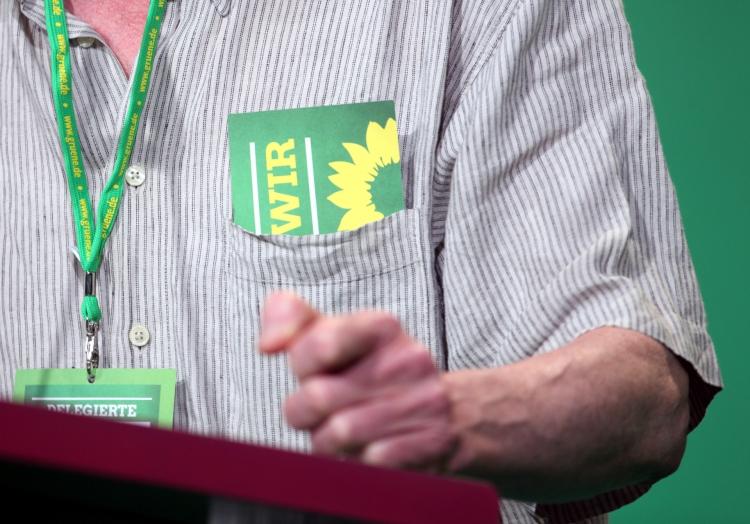 Delegierter hält Rede auf Grünen-Parteitag, über dts Nachrichtenagentur