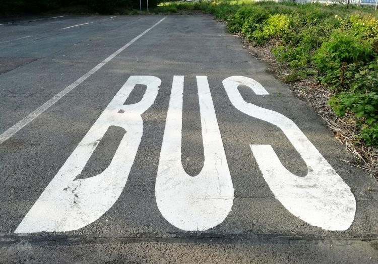 Leerer Bus-Parkplatz, über dts Nachrichtenagentur