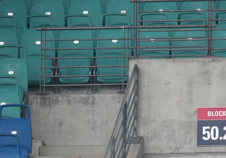 Leere Sitzplätze im Stadion von RB Leipzig, über dts Nachrichtenagentur