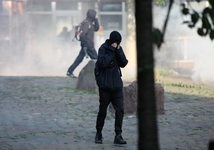 Vermummte Randalierer bei Anti-G20-Protest am 07.07.2017, über dts Nachrichtenagentur