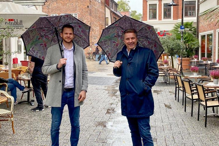 Oberbürgermeister Jürgen Krogmann stellte Steffen Trawinski als Innenstadtmanager vor.