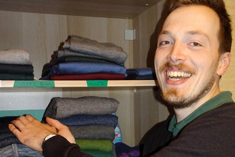 Jens Witt hatte die Idee einer App, die ihm bei der Kleiderwahl hilft.