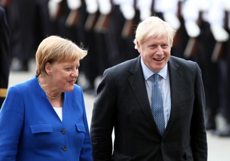 Angela Merkel und Boris Johnson in 2019, über dts Nachrichtenagentur