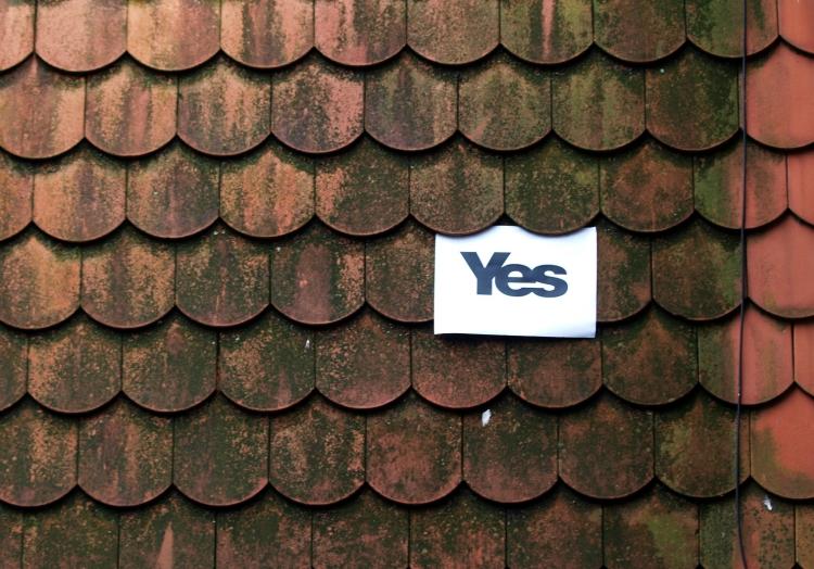 ´Yes-Plakat´ zum Referendum in Schottland, über dts Nachrichtenagentur