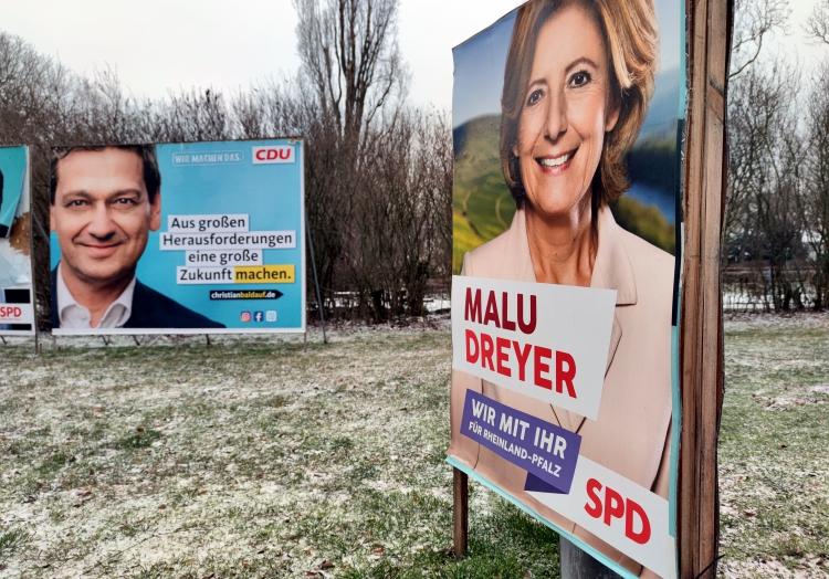 Wahlplakate zur Landtagswahl in Rheinland-Pfalz 2021, über dts Nachrichtenagentur