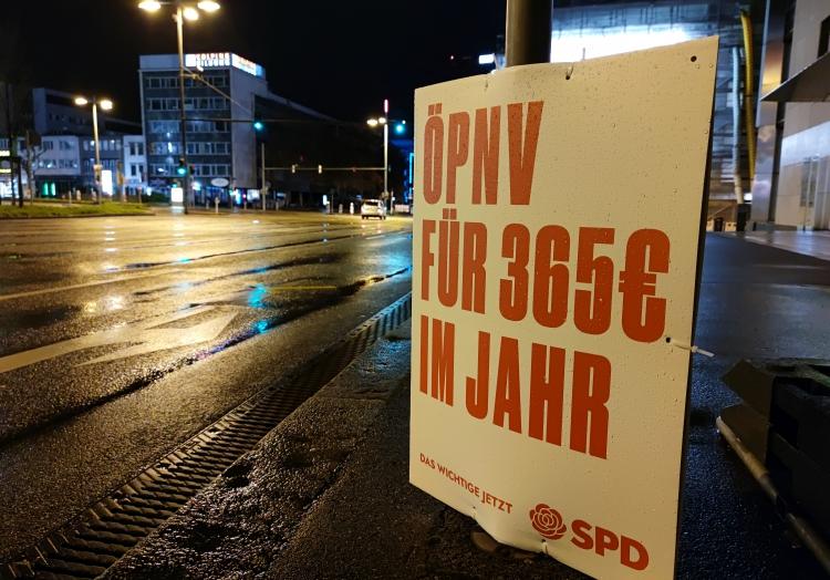 SPD-Wahlplakat zur Landtagswahl in Baden-Württemberg 2021, über dts Nachrichtenagentur