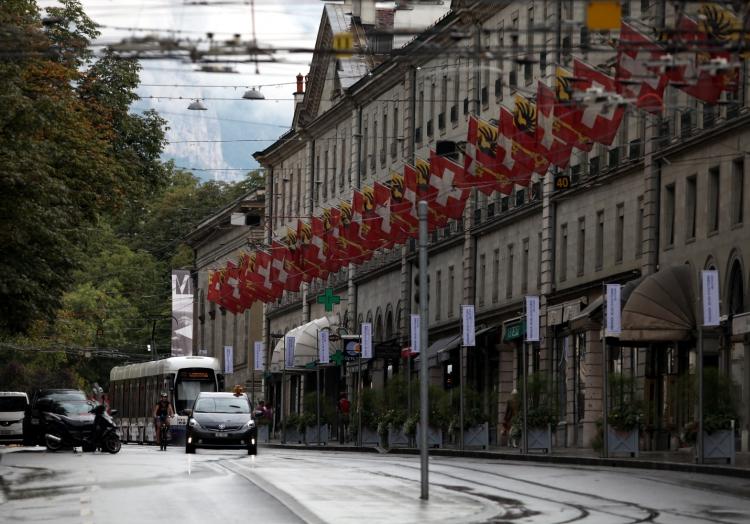 Schweiz-Fahnen in Genf, über dts Nachrichtenagentur