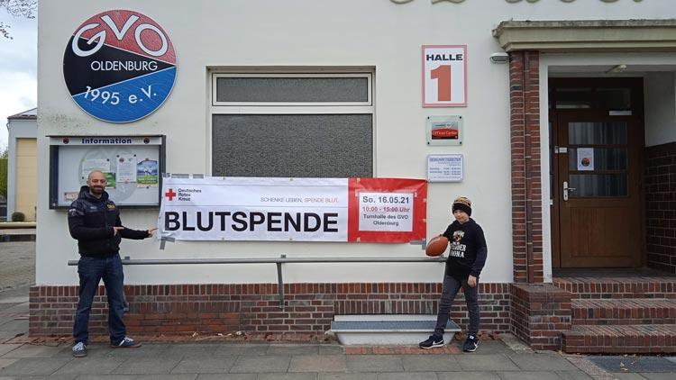Die Oldenburg Outlaws starten am 16. Mai eine Blutspendeaktion.