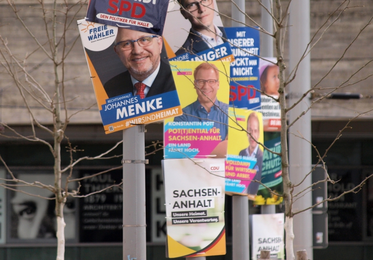 Wahlplakate zur Landtagswahl in Sachsen-Anhalt 2021, über dts Nachrichtenagentur