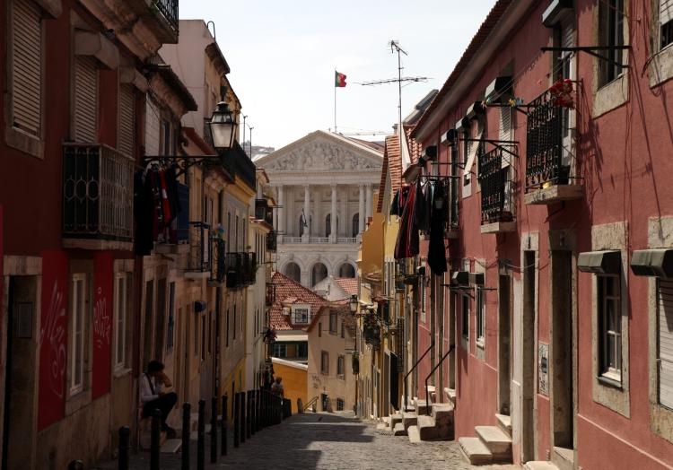 Altstadt von Lissabon mir Parlamentsgebäude, über dts Nachrichtenagentur