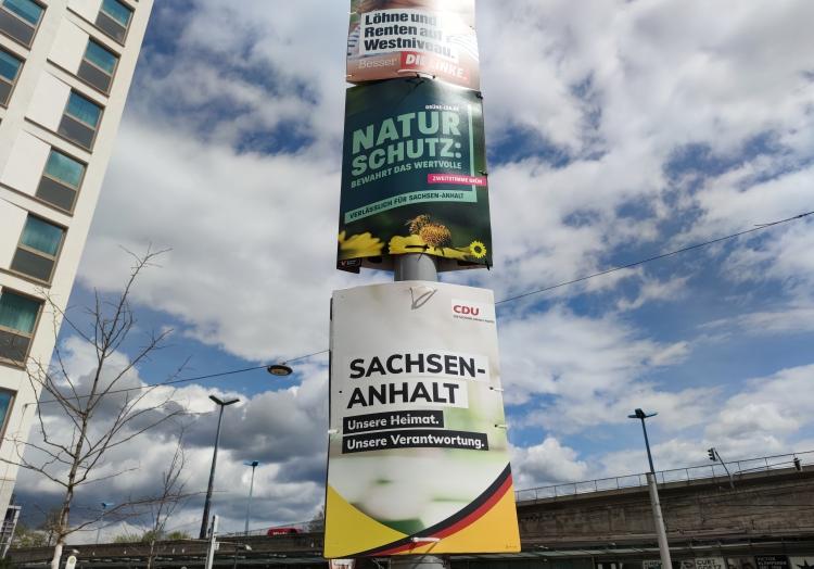 Wahlplakat zur Landtagswahl in Sachsen-Anhalt 2021, über dts Nachrichtenagentur