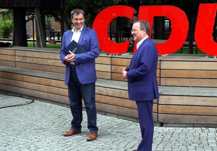 Markus Söder und Armin Laschet am 20.6.2021, über dts Nachrichtenagentur