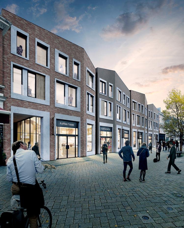 Neben 121 Mietwohnungen werden in der Haarenstraße Gastronomie- und Gewerbeflächen entstehen.