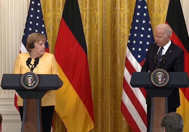 Merkel und Biden am 15.07.2021 in Washington, über dts Nachrichtenagentur