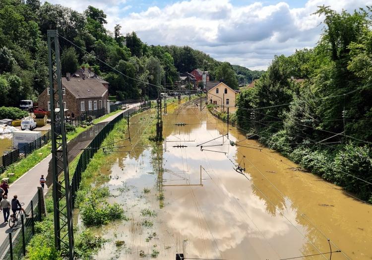Hochwasser an der Ruhr am 15.07.2021, Feuerwehr Bochum,  Text: über dts Nachrichtenagentur