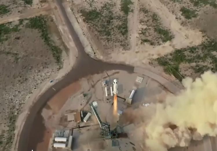 Jeff Bezos startet am 20.07.2021 mit Rakete ´New Shepard´ in Richtung Weltraum, über dts Nachrichtenagentur
