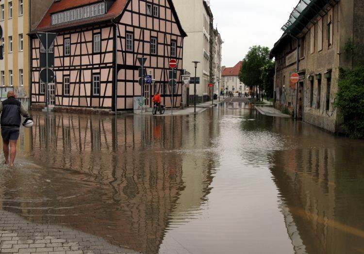 Hochwasser 2013 in Halle (Saale) (Sachsen-Anhalt), über dts Nachrichtenagentur