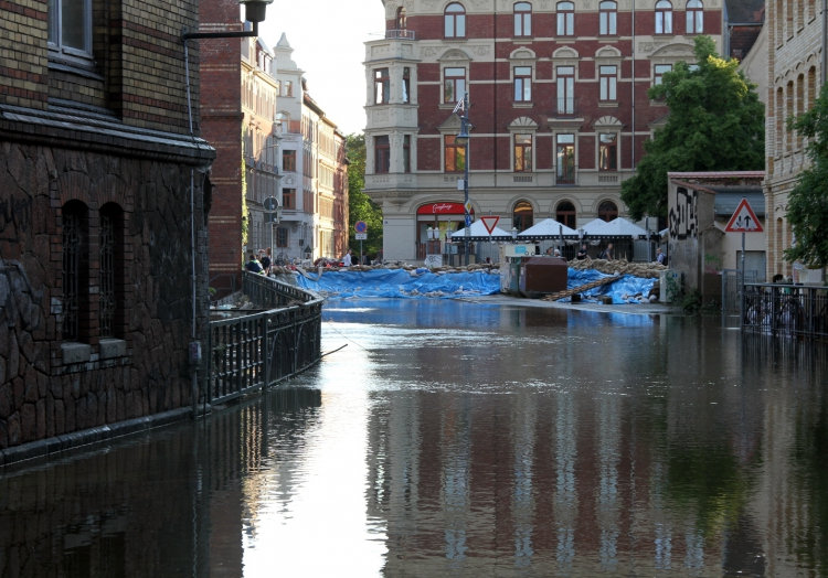 Hochwasser in Halle (Saale), über dts Nachrichtenagentur