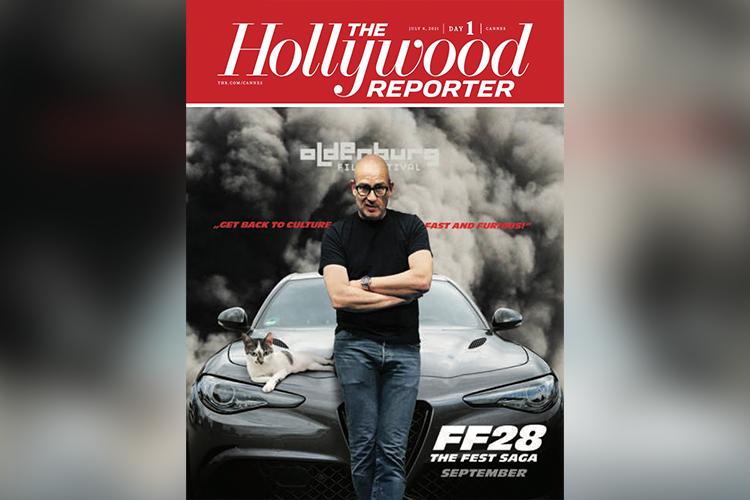 Das Filmfest Oldenburg veranstaltet eine Fotoaktion in Anlehnung an die Titelseite des Hollywood Reporters zum Auftakt der Filmfestspiele Cannes.